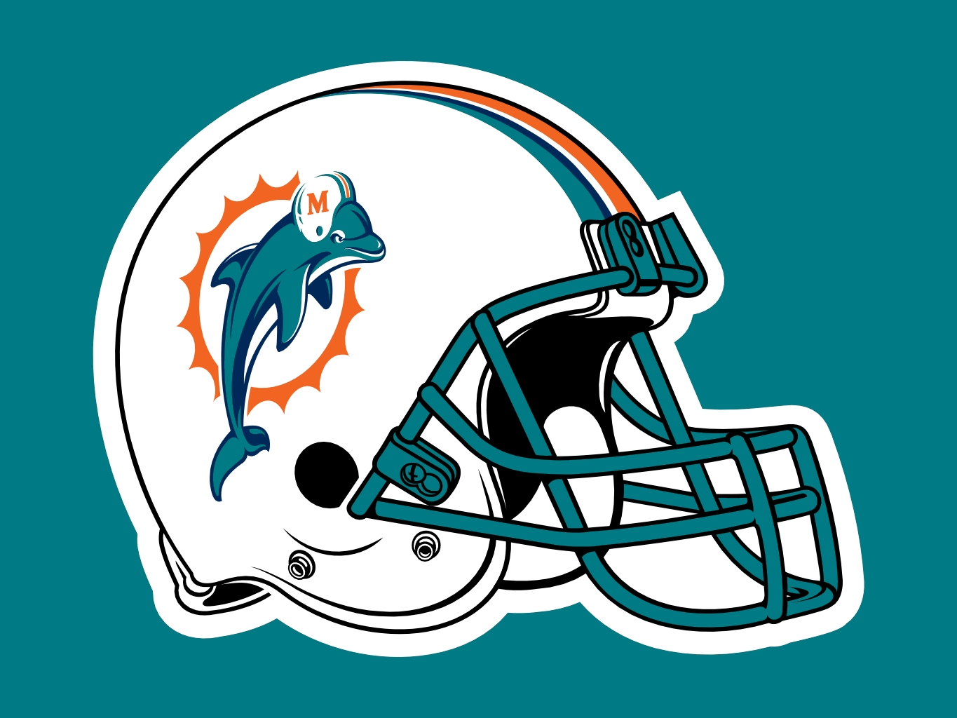 Click each preview to download the full-size imageDolphins Helmet Logo
