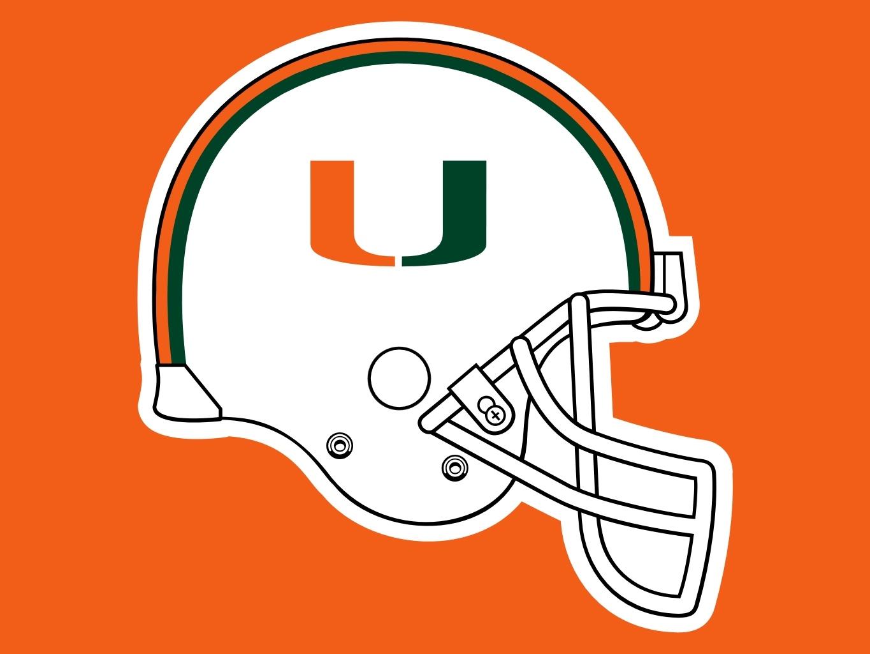 Miami Hurricanes Logo hd Miami Hurricanes Helmet Logo