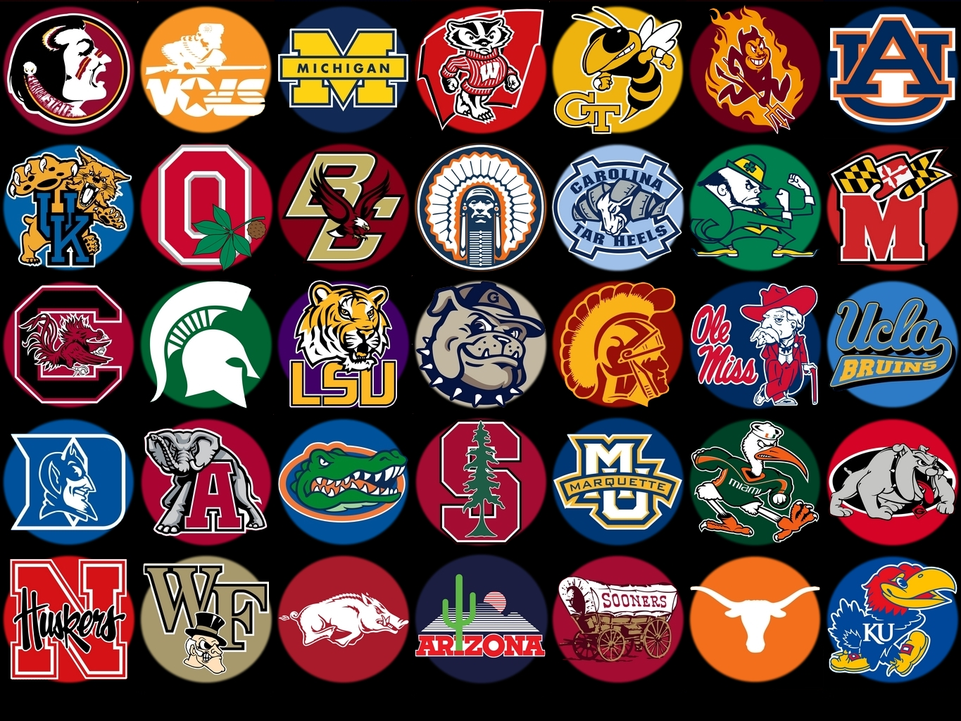 sports-logos-screensavers.com - iowa hawkeyes, usc trojans, houston